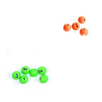 Tungsten Biseri - florestenčno oranžna in florestenčno zelena