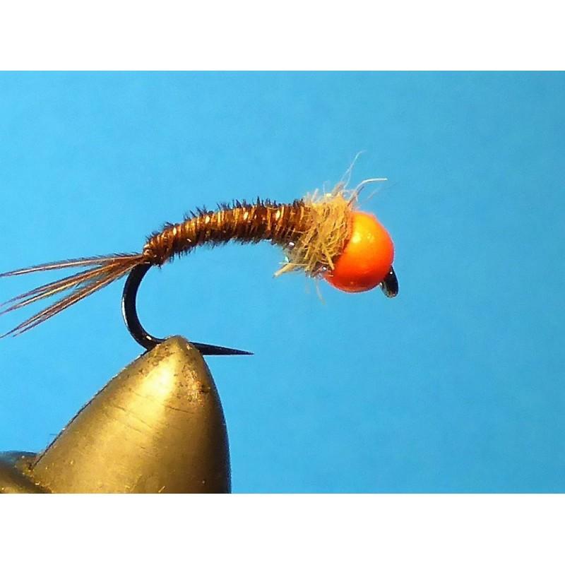 Tungsten pheasant tail orange
