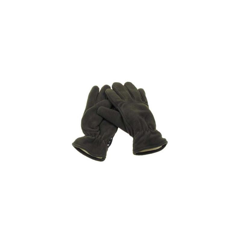 Rokavice iz fleece-zelene