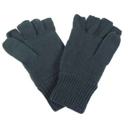 Rokavice-pletene-brez 4 prstov-zelene