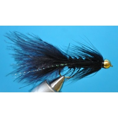Gold Black Woolly Bugger - tungsten