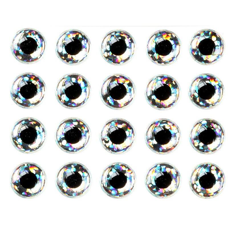 3-D epxy samolepilna očesa