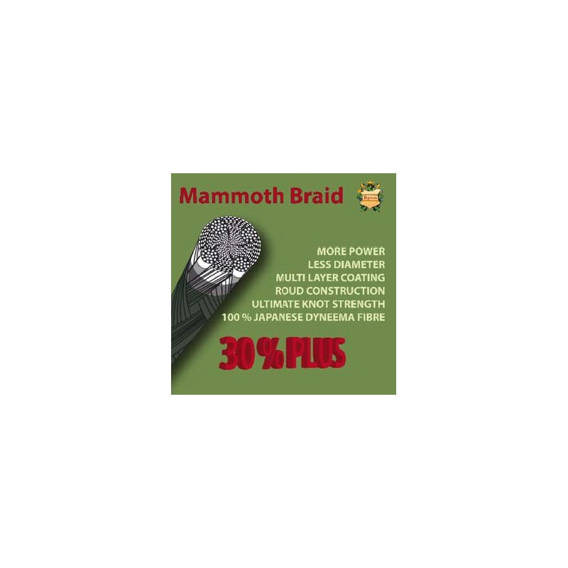 Vrvica Mammoth braid 30% Plus